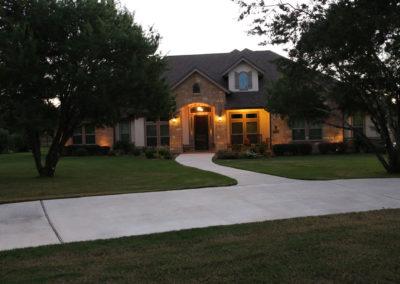 Custom Home Exterior Evening