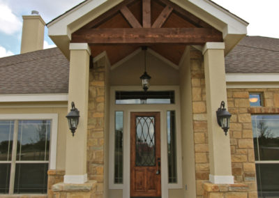 Custom Home Exterior Front Entrance