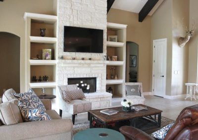 Custom Home Living Area, Custom Home Builder