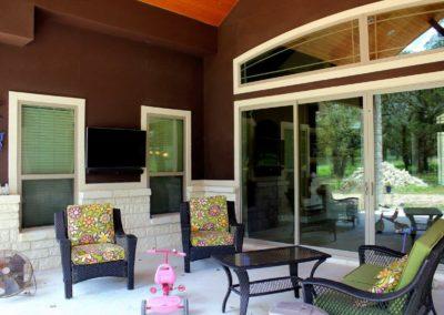 Custom Home Exterior Back Patio