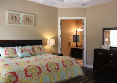 Custom Home Interior Master Bedroom